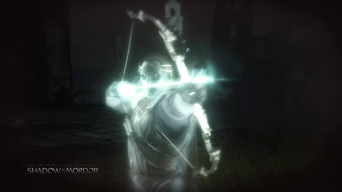 Celebrimbor arrow bow shoot aim