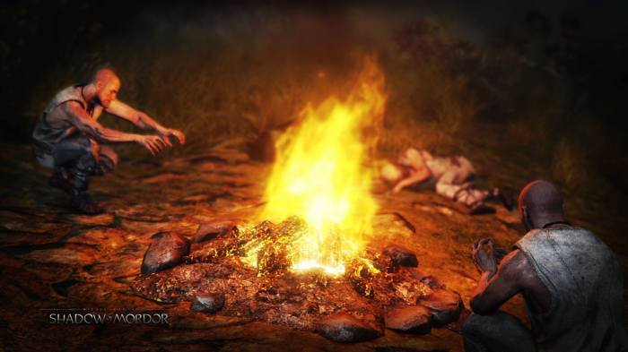 prisoners white rider flame fire shadow of mordor