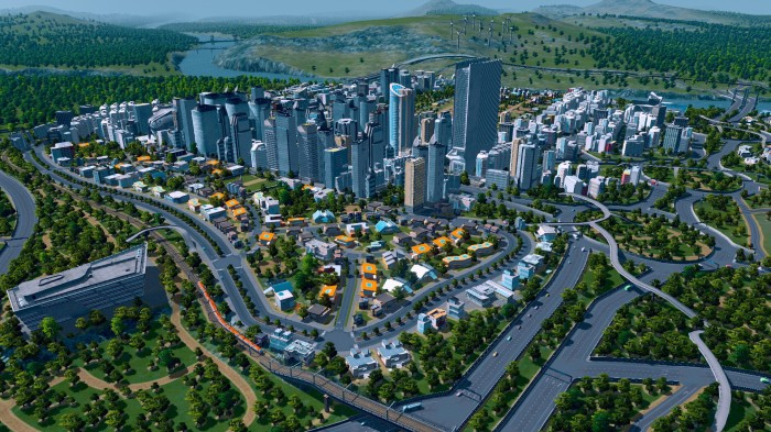cities, skylines, tilt-shift, good graphics, city, builder, simcity, promo, free, download